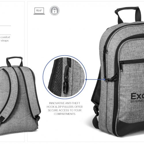 CAPITAL TRAVEL-SAFE TECH BACKPACK
