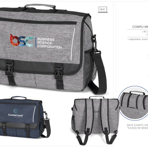 COLLEGIATE COMPU-MESSENGER BAG