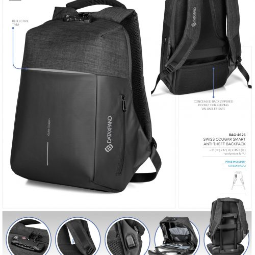 SWISS COUGAR SMART ANTI-THEFT BACKPACK