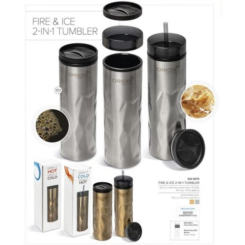 FIRE & ICE 2-IN-1 DOUBLE WALL TUMBLER