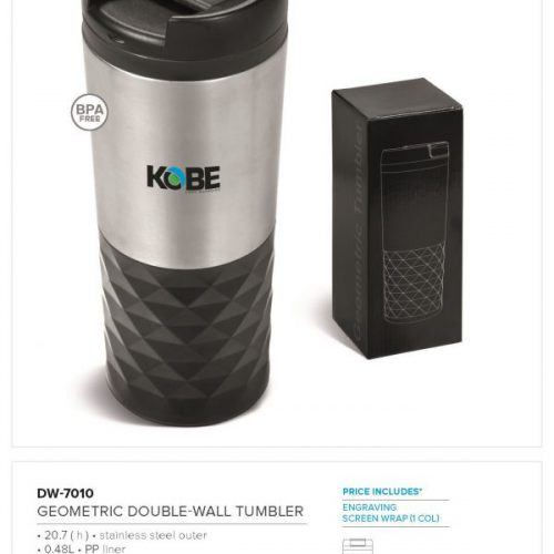GEOMETRIC DOUBLE WALL TUMBLER