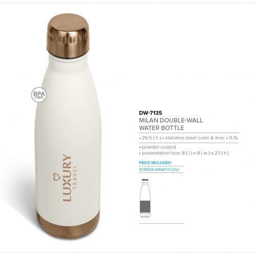 MILAN DOUBLE WALL WATER BOTTLE