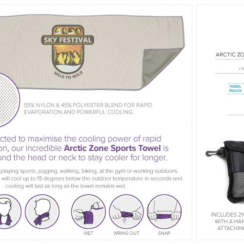ARCTIC ZONE SPORTS TOWEL