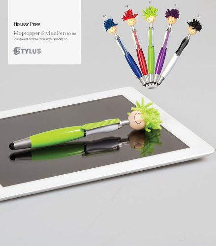 MOP TOPPER STYLUS PEN AND SCREEN CLEANER