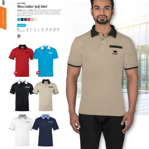 MENS CALIBER GOLF SHIRT