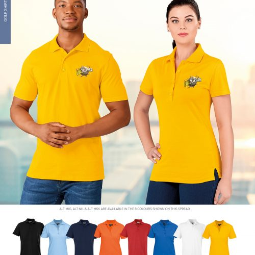 MENS MICHIGAN 100% COTTON GOLF SHIRT