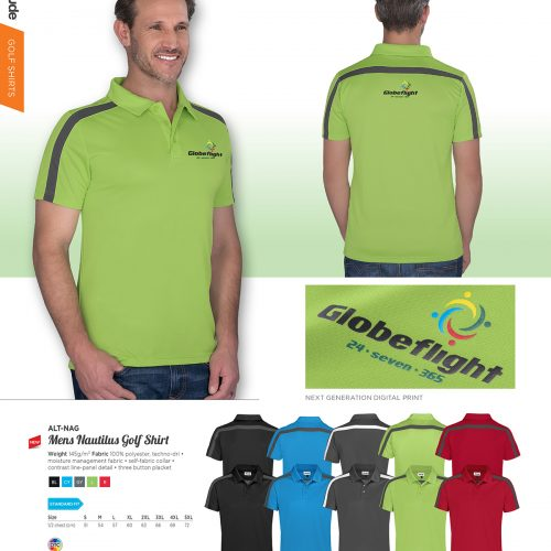 MENS NAUTILUS GOLF SHIRT