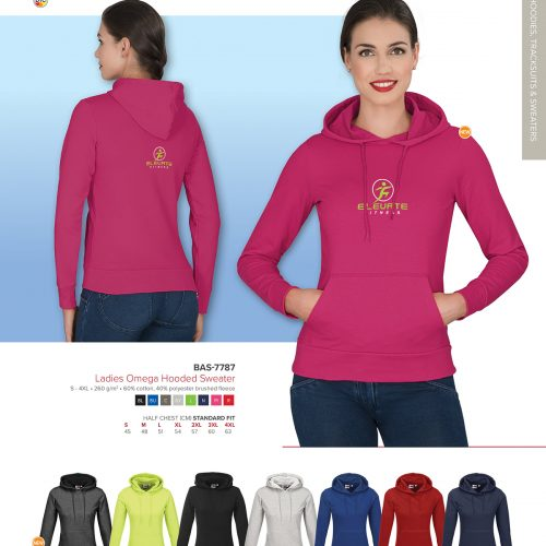 LADIES OMEGA HOODED SWEATER
