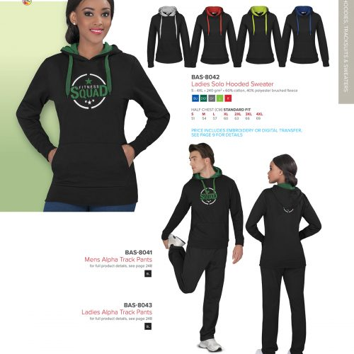 LADIES SOLO HOODED SWEATER