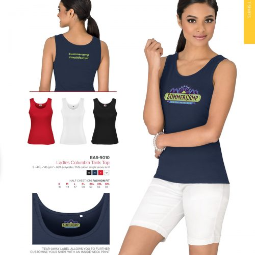 LADIES COLUMBIA TANK TOPS