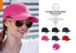 6  PANEL MICROFIBRE STITCH CAP