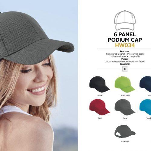 6 PANEL PODIUM CAP