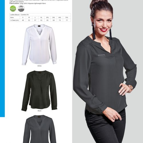LADIES LONG SLEEVE LILY BLOUSE